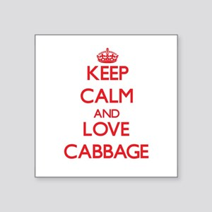 Keep calm and love Cabbage Sticker