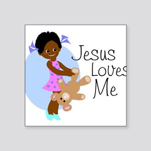 "lovesme1abcde Square Sticker 3"" x 3"""