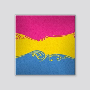 "Pansexual Ornamental Flag Square Sticker 3"" x 3"""