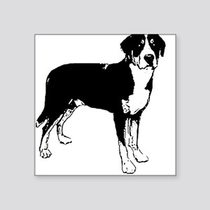 Greater Swiss Mountain Dog Square Sticker