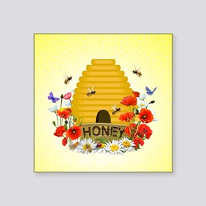 "Beehive Square Sticker 3"" X 3"""