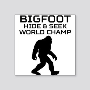 b82c77ee Hide And Seek World Champion Bigfoot Stickers - CafePress