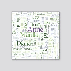 Anne of Green Gables Word Cloud Sticker