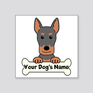 "Personalized Beauceron Square Sticker 3"" x 3"""
