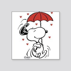 Snoopy on Heart Sticker