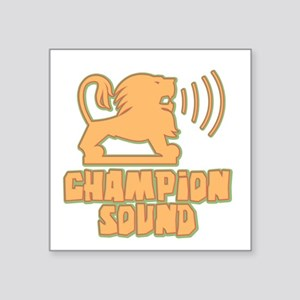 Champion Sound Lion Oval Sticker