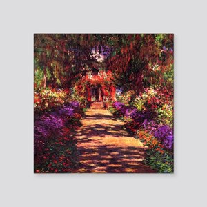 "Path In Monet's Garden Square Sticker 3"" x 3"""