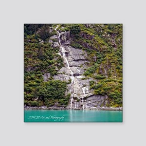 Tracy Arm Waterfall Square Sticker 3&Quot; X 3&Quo
