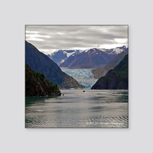 Tracy Arm Glacier Square Sticker 3&Quot; X 3&Quot;