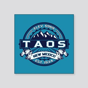 "Taos Ice Square Sticker 3"" x 3"""