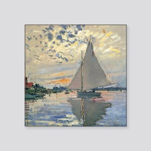Monet Sailboat French Impressionist Sticker