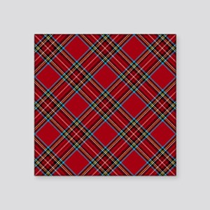 Red Plaid Pattern Sticker