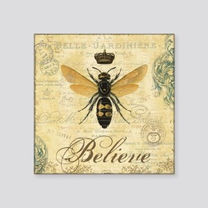 modern vintage French queen bee Sticker