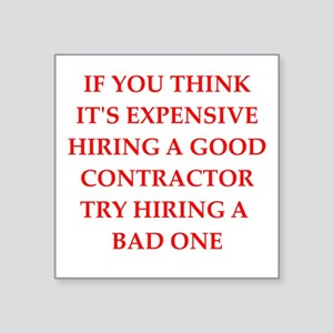 a0569bd67 Contractor Stickers - CafePress