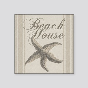 Beach House Starfish Sandy Coastal Decor Sticker