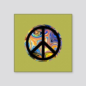 Abstract Peace-green Sticker