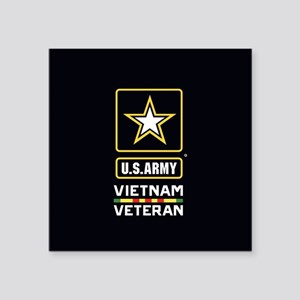 "U.S. Army Vietnam Veteran Square Sticker 3"" x 3"""