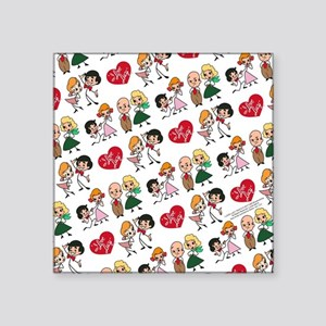 "I Love Lucy Character Stick Square Sticker 3"" x 3"""