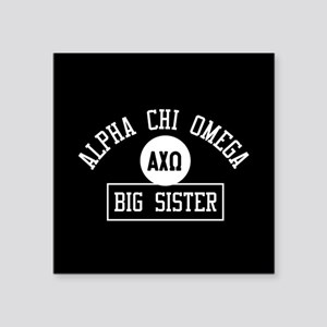 "Alpha Chi Omega Big Sister Square Sticker 3"" x 3"""