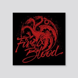 GOT Targaryen Fire And Blood Sticker