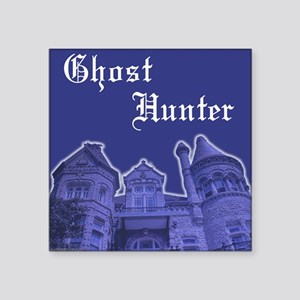 Haunted Mansion Ghost Hunter Square Sticker