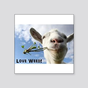 Weed Goat Sticker