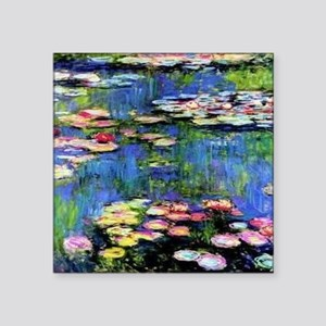 "MONETWATERLILLIESprint Square Sticker 3"" x 3"""
