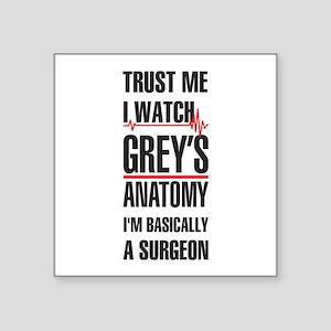 Greys Anatomy trust me black Sticker