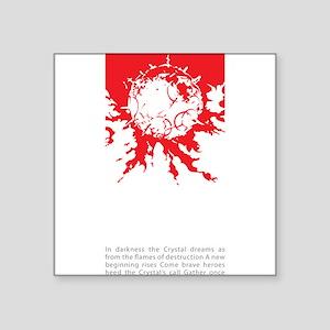 "Meteor Survivor Square Sticker 3"" x 3"""