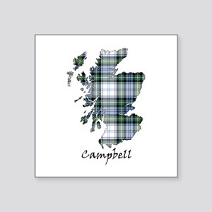 """Map-Campbell dress Square Sticker 3"""" x 3"""""""