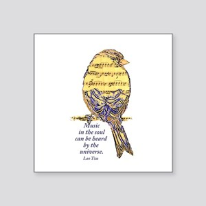 Music in the Soul quote Music Note Bird Sticker