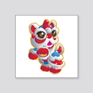 Cute Lion Dancer Sticker