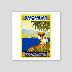 "Jamaica Travel Poster 2 Square Sticker 3"" x 3"""
