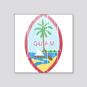 "Guam Coat Of Arms Square Sticker 3"" x 3"""