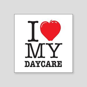 "ILoveMyDaycareLogo Square Sticker 3"" x 3"""