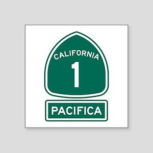 """Pacifica California Square Sticker 3"""" x 3"""""""