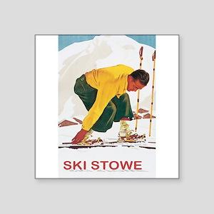 Ski Stowe Vermont Rectangle Sticker