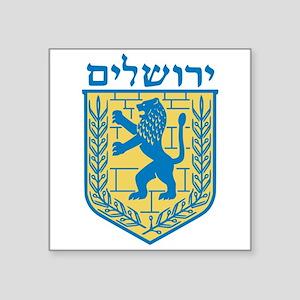 "Emblem Of Jerusalem Square Sticker 3"" X 3&quo"