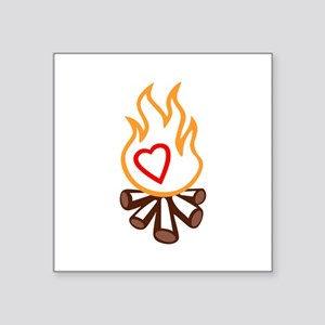 campfire applique Sticker