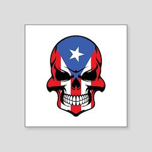 Puerto Rican Flag Skull Sticker