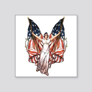 "vintage-flag-bearer Square Sticker 3"" x 3"""