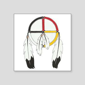 Feathered Medicine Wheel Sticker