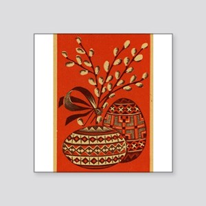 Vintage Russian Easter Card Sticker