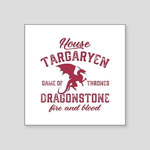 "House Targaryen Square Sticker 3"" x 3"""
