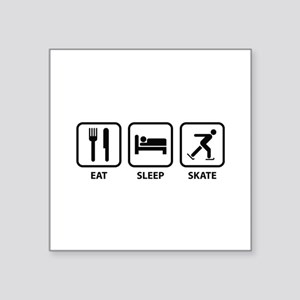 "Eat Sleep Skate Square Sticker 3"" x 3"""