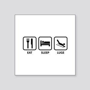 "Eat Sleep Luge Square Sticker 3"" x 3"""