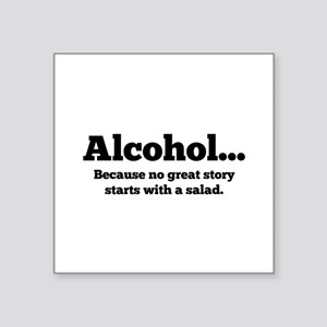 "Alcohol Square Sticker 3"" x 3"""