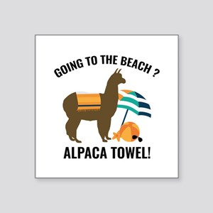 "Alpaca Towel Square Sticker 3"" x 3"""