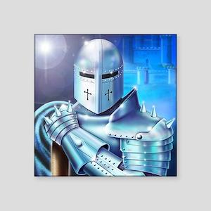 "Blue Knight Square Sticker 3"" x 3"""