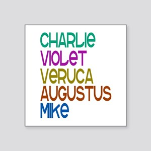 """'Charlie's Chocolate Factory' Square Sticker 3"""" x"""